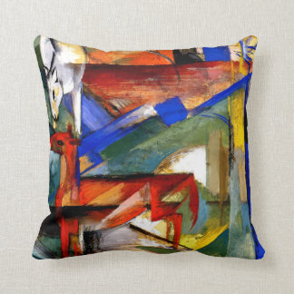 Franz Marc - Composition of Animals II Throw Pillow