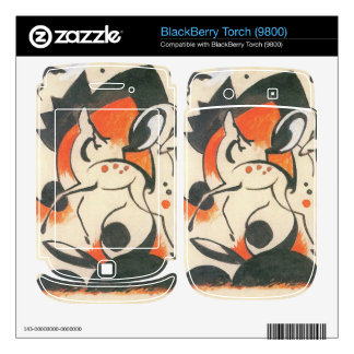 Franz Marc - Composition with two deer BlackBerry Decals