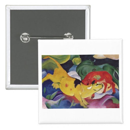 Franz Marc - Cows Red Green Yellow 1912 Cow Canvas Pin