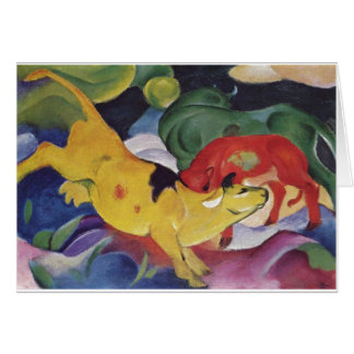 Franz Marc - Cows Red Green Yellow 1912 Cow Canvas Card