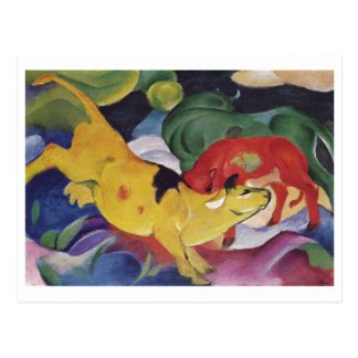 Franz Marc - Cows Red Green Yellow 1912 Cow Canvas Postcard
