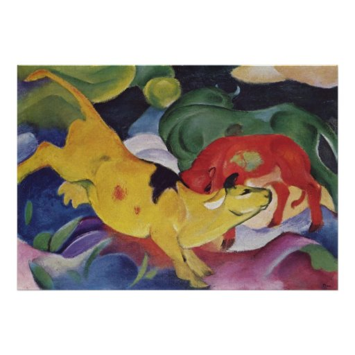 Franz Marc - Cows Red Green Yellow 1912 Cow Canvas Poster