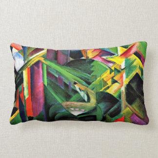 Franz Marc: Deer in a Monastery Garden Lumbar Pillow
