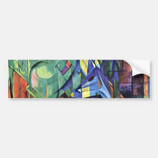 Franz Marc - Deer in the forest (II) Bumper Sticker