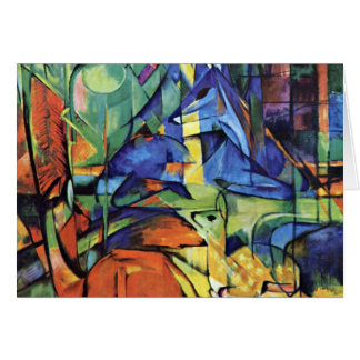 Franz Marc - Deer in the forest (II) Card