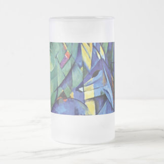 Franz Marc - Deer in the forest (II) Frosted Glass Beer Mug