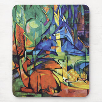 Franz Marc - Deer in the forest (II) Mouse Pad