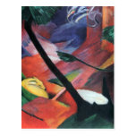 Franz Marc - Deer in the forest II Post Cards