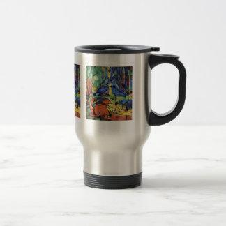 Franz Marc - Deer in the forest (II) Travel Mug