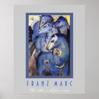 Franz Marc - el jinete azul - caballos Posters