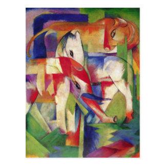 Franz Marc - elefante, caballo, ganado, invierno Postal