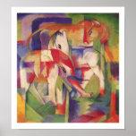Franz Marc - elefante, caballo, ganado, poster del
