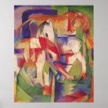 Franz Marc - Elephant Horse Cattle Winter 1913-14 Poster