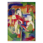 Franz Marc - Elephant, Horse, Cattle, Winter Greeting Card