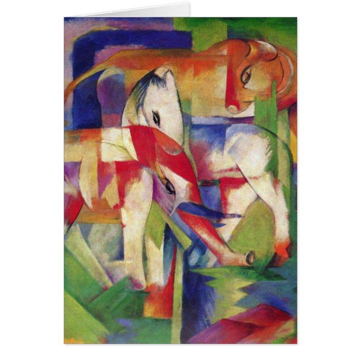 Franz Marc - Elephant, Horse, Cattle, Winter Card