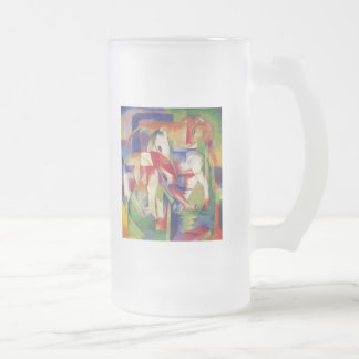 Franz Marc - Elephant, Horse, Cattle, Winter Frosted Glass Beer Mug