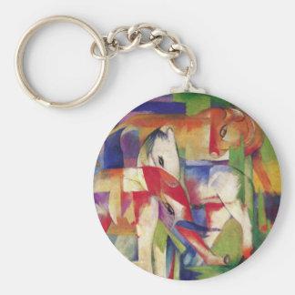 Franz Marc - Elephant, Horse, Cattle, Winter Keychain