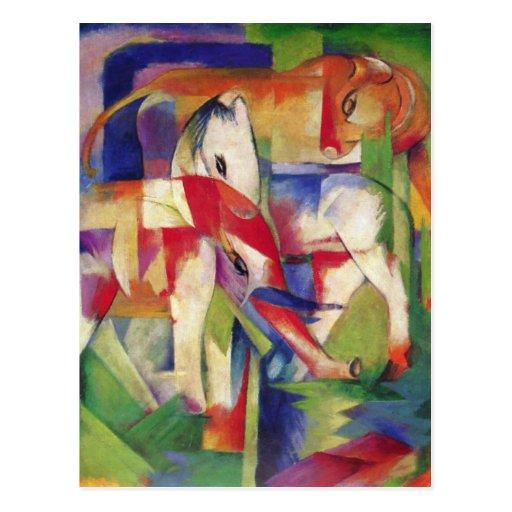 Franz Marc - Elephant, Horse, Cattle, Winter Postcard
