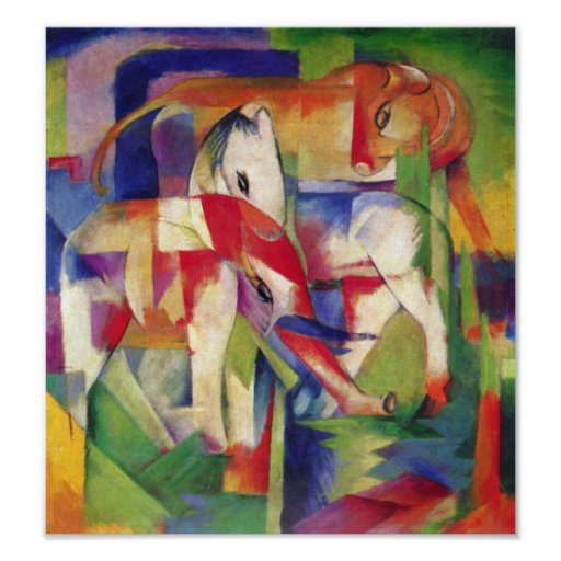 Franz Marc - Elephant, Horse, Cattle, Winter Poster