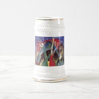 Franz Marc - Fabeltiere I 1913 Horse Abstract Beer Stein