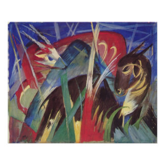 Franz Marc - Fabeltiere I 1913 Horse Abstract Poster