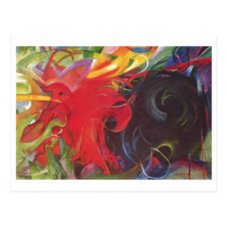 Franz Marc - Fighting Forms 1914 Color Black Red Post Card