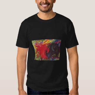 Franz Marc - Fighting Forms 1914 Color Black Red Tshirt