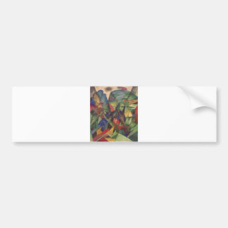 Franz Marc - Foxes 1913 Oil Canvas Red Fox Sly Bumper Sticker