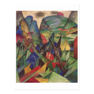 Franz Marc - Foxes 1913 Oil Canvas Red Fox Sly Postcards