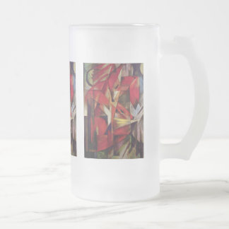 Franz Marc - Foxes Frosted Glass Beer Mug