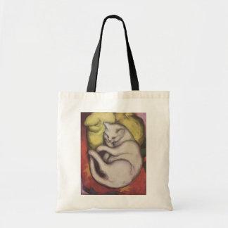 Franz Marc - gato en un amortiguador amarillo Bolsa De Mano