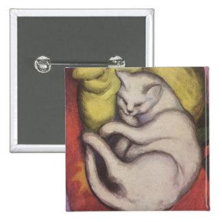 Franz Marc - gato en un amortiguador amarillo Pin