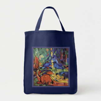 Franz Marc - German Expressionist Movement - Deer Tote Bag