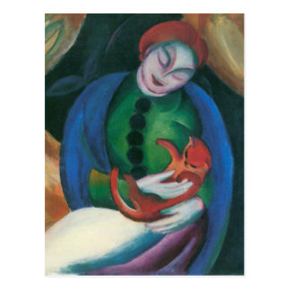 Franz Marc - Girl with a Cat II Postcards