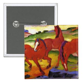 Franz Marc Grazing Horses Button