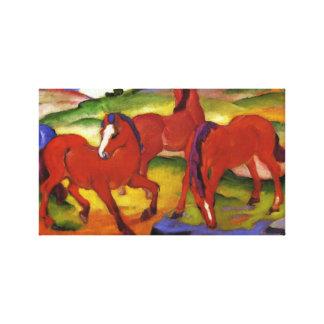 Franz Marc Grazing Horses Canvas Print