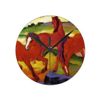 Franz Marc Grazing Horses Clock