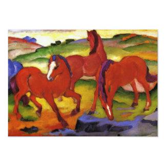 "Franz Marc Grazing Horses Invitations 5"" X 7"" Invitation Card"