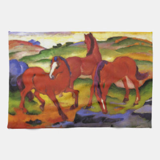 Franz Marc Grazing Horses Kitchen Towel