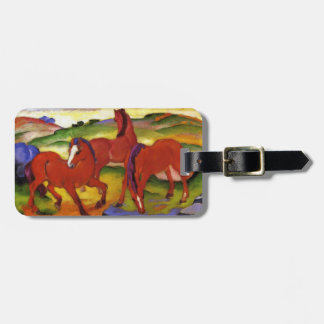 Franz Marc Grazing Horses Luggage Tag