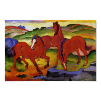 Franz Marc Grazing Horses Poster