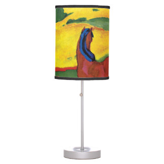 Franz Marc - Horse In A Landscape Painting Desk Lamp