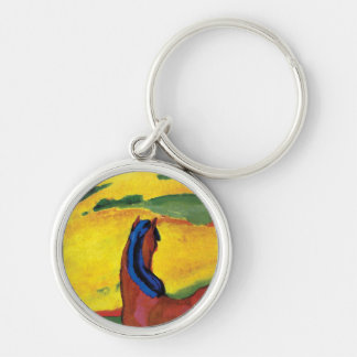 Franz Marc - Horse In A Landscape Painting Keychain