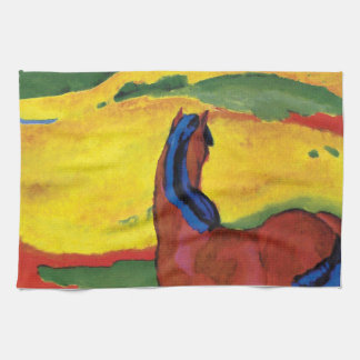 Franz Marc - Horse In A Landscape Painting Towels
