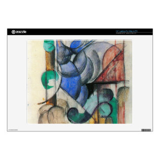 Franz Marc - House in abstract landscape Skin For Laptop