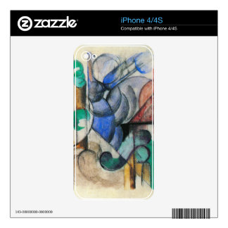 Franz Marc - House in abstract landscape iPhone 4S Decal
