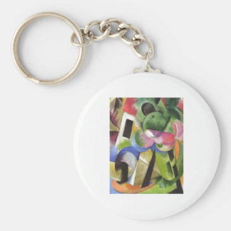 Franz Marc - House w/ Trees Small Composition 1914 Keychain