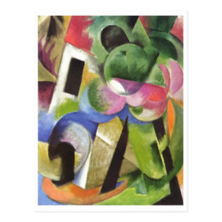 Franz Marc - House w/ Trees Small Composition 1914 Postcard