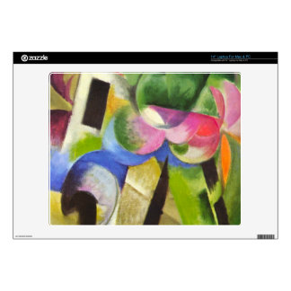 Franz Marc - House with trees Laptop Decal