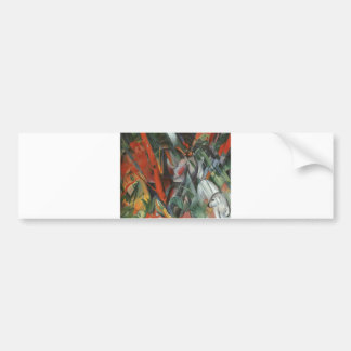 Franz Marc - In Rain 1912 Oil Canvas People Palm Bumper Sticker